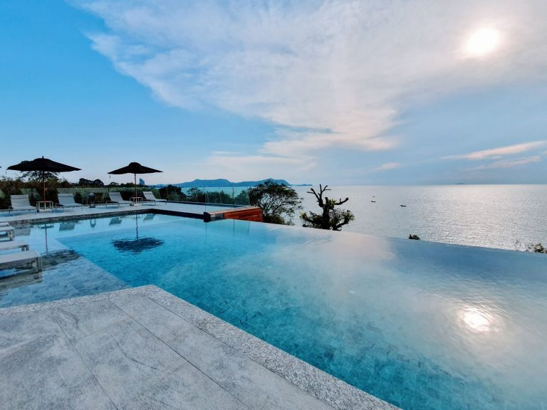 Infinity Pool with beach view