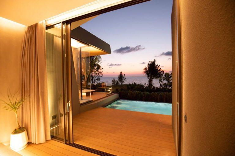 Beachfront Pool Villa View Sunset